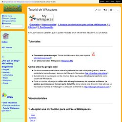edublogki - Tutorial de Wikispaces