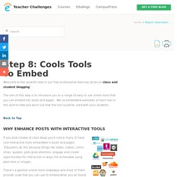 Step 8: Cools tools to embed