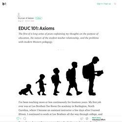 EDUC 101: Axioms – Medium