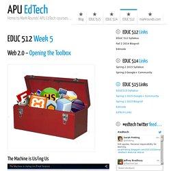 EDUC 512 Week 5 APU EdTech