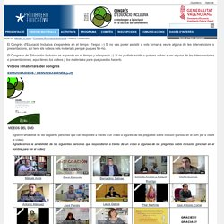 - Congres Educació Inclusiva - Vídeos y Materiales