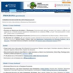 - Congres Educació Inclusiva - Programa