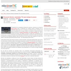 Educación literaria: actividades TIC para trabajar la poesía