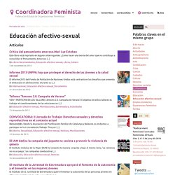 Educación afectivo-sexual