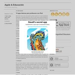 15 apps básicas para profesores con iPad