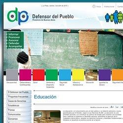 Educación - Defensor del Pueblo de la Provincia de Buenos Aires