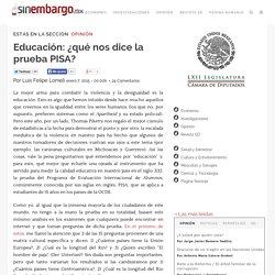 Educación: ¿qué nos dice la prueba PISA?
