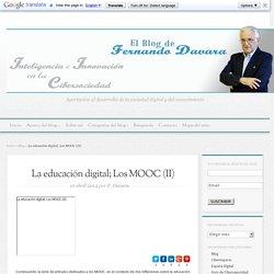 La educación digital; Los MOOC (II) - El blog de Fernando Davara