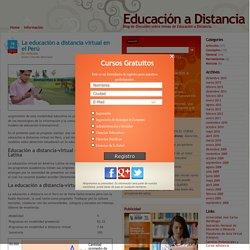 La educación a distancia virtual en el Perú