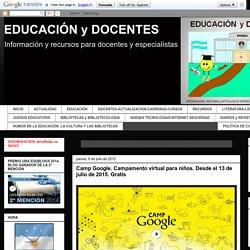 EDUCACIÓN y DOCENTES: JUEGOS EDUCATIVOS