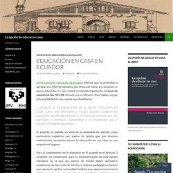 Educación en casa en Ecuador