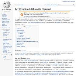 Ley Orgánica de Educación (España)