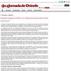 Educación especial en México. Un modelo de atención cada 10 años