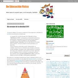 De Educación Física: Día europeo de la obesidad 2011