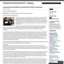 La educación en Finlandia: los secretos de un éxito excepcional… « CIENCIAS SOCIALES HOY – Weblog