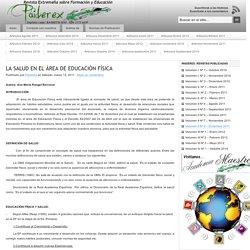 LA SALUD EN EL ÁREA DE EDUCACIÓN FÍSICA : Paiderex