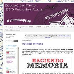 Educación Física Pedanías Altas: Blog de aula