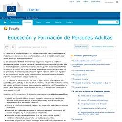 España:Educación y Formación de Personas Adultas