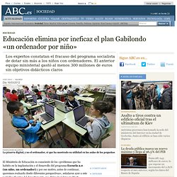 Educación elimina por ineficaz el plan Gabilondo «un PC por niño»