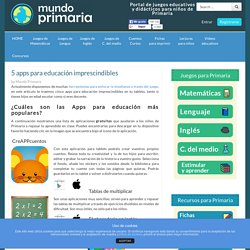 5 apps para educación imprescindibles en tu tableta