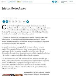 Educación inclusiva - 31.12.2016 - LA NACION