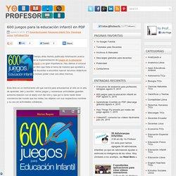 600 juegos para la educación infantil en PDF