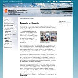 Educación en Finlandia - Embajada de Finlandia, Madrid : InfoFinlandia : Educación