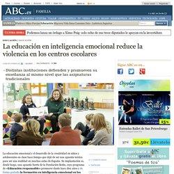 La educación en inteligencia emocional reduce la violencia en los centros escolares