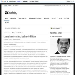 La mala educación, lastre de México