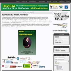 REVISTA HISTORIA DE LA EDUCACIÓN LATINOAMERICANA
