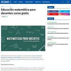 Educación matemática para docentes: curso gratis
