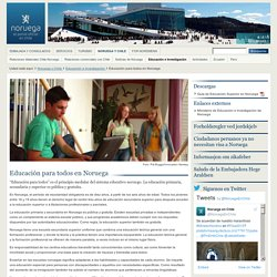 Educación para todos en Noruega