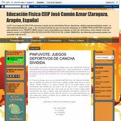 Educación Física CEIP José Camón Aznar (Zaragoza, Aragón, España): PINFUVOTE: JUEGOS DEPORTIVOS DE CANCHA DIVIDIDA