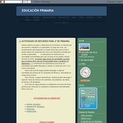 ACTIVIDADES DE REFUERZO PARA 4º DE PRIMARIA