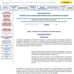 Educación Física - Educación Primaria - Comunidad de Madrid