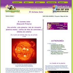 El Sistema Solar para Educación Primaria. Por el planetario Educa Ciencia.