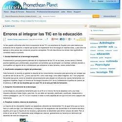 Errores al integrar las TIC en la educación