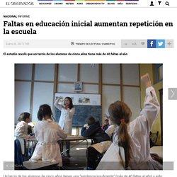 Faltas en educación inicial aumentan repetición en la escuela