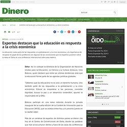 Expertos destacan que la educación es respuesta a la crisis económica, Noticias