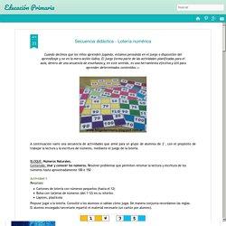 Educación Primaria: Secuencia didáctica - Lotería numérica