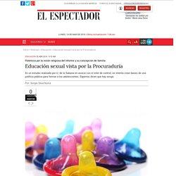Educación sexual vista por la Procuraduría