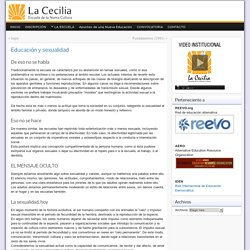 """Educación y sexualidad » Escuela de la Nueva Cultura """"La Cecilia"""""""