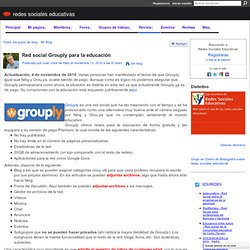 Red social Grouply para la educación