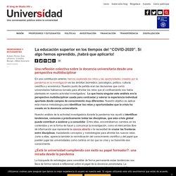 """La educación superior en los tiempos del """"COVID-2020"""""""