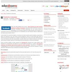 Facebook en educación