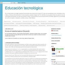 Errores al implantar Ipads en Educación