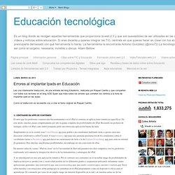 Educación tecnológica: Errores al implantar Ipads en Educación