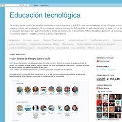 Educación tecnológica: Hstry: líneas de tiempo para el aula