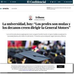 Educación: La universidad, hoy: Los profes son mulas y los decanos creen dirigir la General Motors. Blogs de Tribuna
