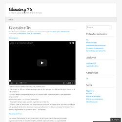Educación y Tic « Educacion y Tic